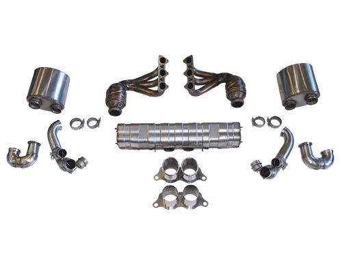 Cargraphic Exhaust Kit 2 Quieter Motorsport Version Porsche 997 GT3 07-09 - CARP97GT3KIT2