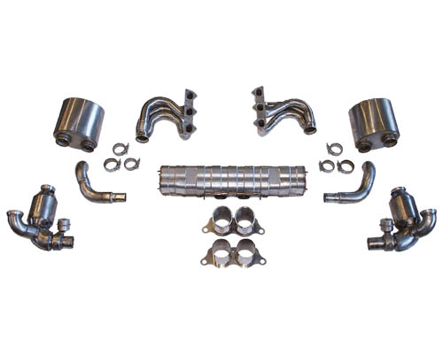 Cargraphic Exhaust Kit 3 Performance Weight Reducing Version Porsche 997.2 GT3 10-11 - CARP97GT3KIT338RS