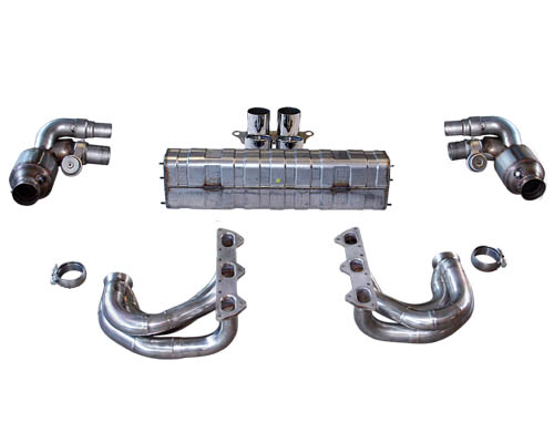 Cargraphic Exhaust Kit 6 Performance Version w/ Flaps Porsche 997.2 GT3 10-11 - CARP97GT3KIT638RS