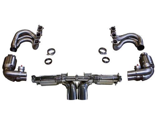 Cargraphic Exhaust Kit 6 Performance Lightweight Version w/ Flaps Porsche 997 GT3 07-09 - CARP97GT3KIT6LW
