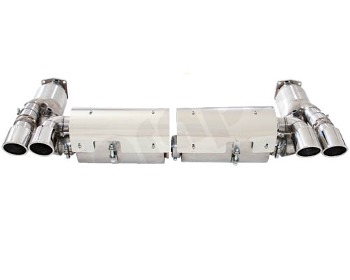 Cargraphic Exhaust System TUV Version with Flaps Porsche 997.1 Turbo 07-09 - CARP97TETFLAP