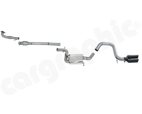 Cargraphic Turbo-Back Exhaust System with Integrate Exhaust Flap Volkswagen Scirocco 2.0 TSI 09-13 - CARVWSC1320TB2