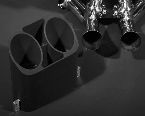Image of Capristo Black Billet Machined Tailpiece Lamborghini Murcielago 01-10