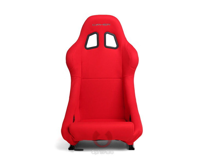 Cipher Auto Red Cloth Full Bucket Non Reclineable Racing Seats - Single - CPA1005FRD(SINGLE)