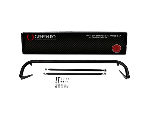 """Cipher Auto Racing Harness Bar Black Powder Coated 48"""" Universal Fitment - CPA5000HB-BK"""