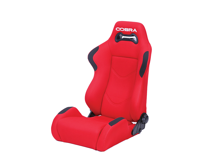Cobra C DAY-S-BK Daytona Reclining Seat - Black Spacer Fabric - integrated 6-point sub strap