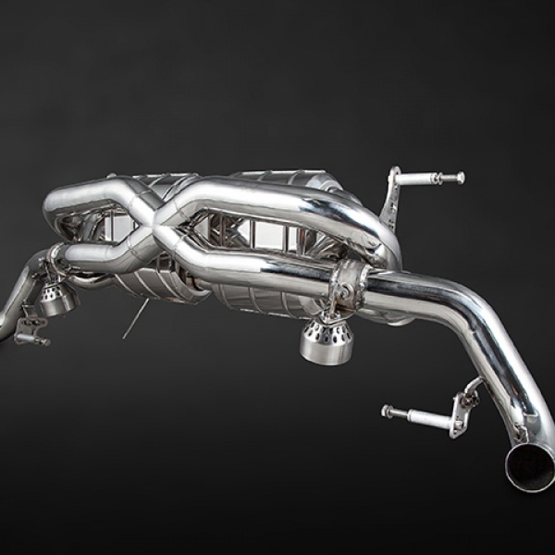 Capristo Audi R8 Post-Facelift V8 X-Pipes Exhaust System w/Remote - 02AU00803004