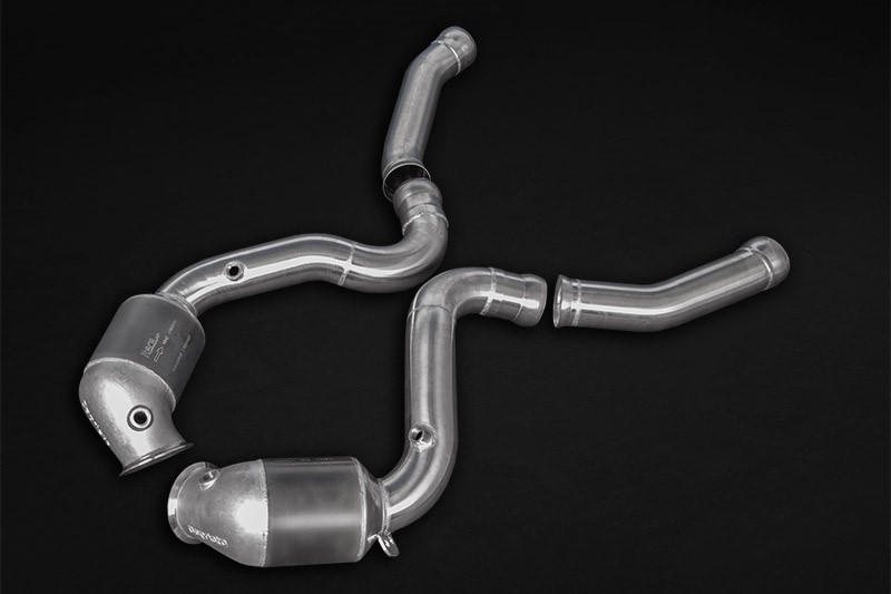 Capristo 200 Cell Sports Cat Downpipe Mercedes W205 C63 AMG - 02MB02003022