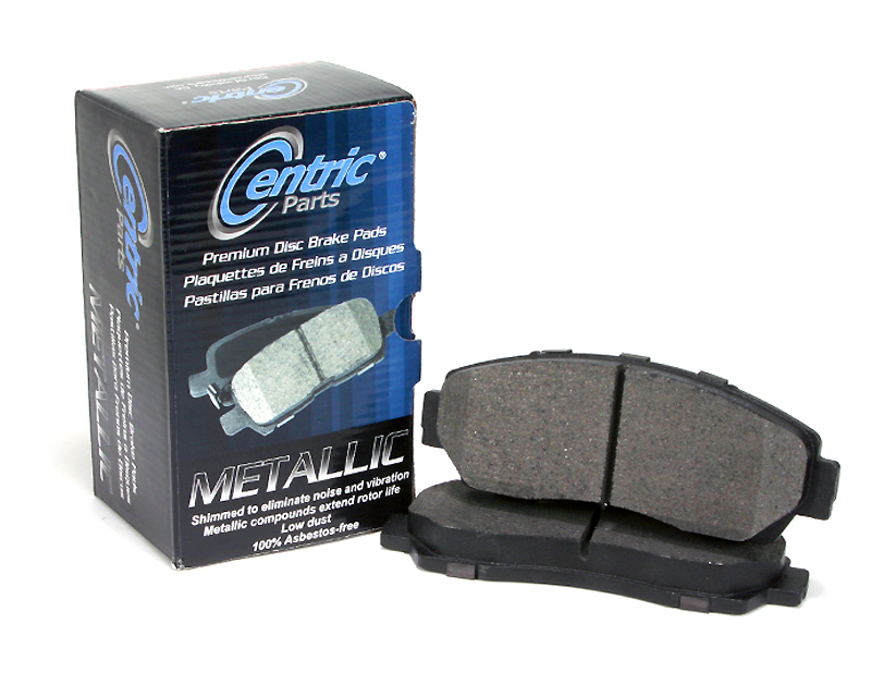 Centric Premium Semi Metallic Brake Pads with Shims Rear Audi S4 2004 - 300.10180