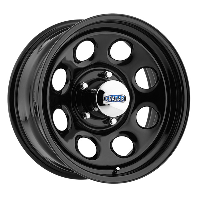 Cragar Soft 8 397 High Gloss Black Paint Wheel 17x8 5x139.7 0 - 1729417014B