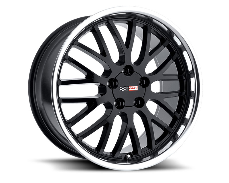 Cray Manta 18X10.5 5x120.65 65mm Gloss Black Machined Lip - CR-1805CMA655121B70