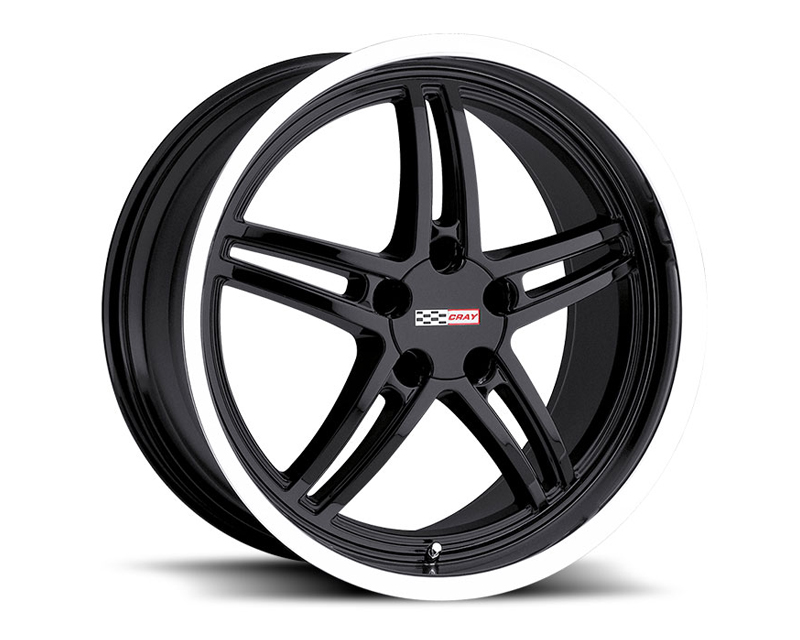 Cray Scorpion 18X10.5 5x120.65 65mm Gloss Black Machined - CR-1805CRS655121B70