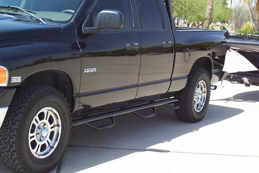 2007 Dodge Ram 1500 Black >> D0289QC-6-TX | N-FAB Bed Access Nerf Step Textured Black Dodge Ram 3500 Quad Cab 6.4 Bed 02-08