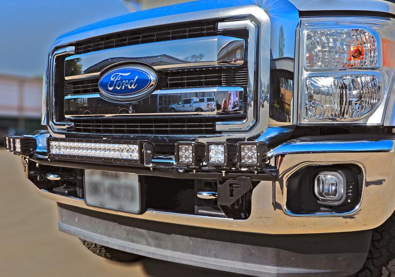 N Fab Gloss Black Multi Mount System Light Bar Ford F 150 15