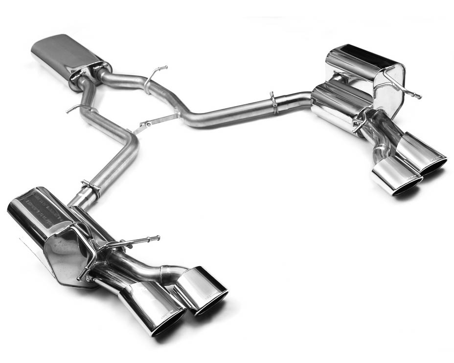 Eisenmann Stainless Catback Exhaust 4x120x77mm Oval Tips Mercedes-Benz C280 08-09 - D7264.01204