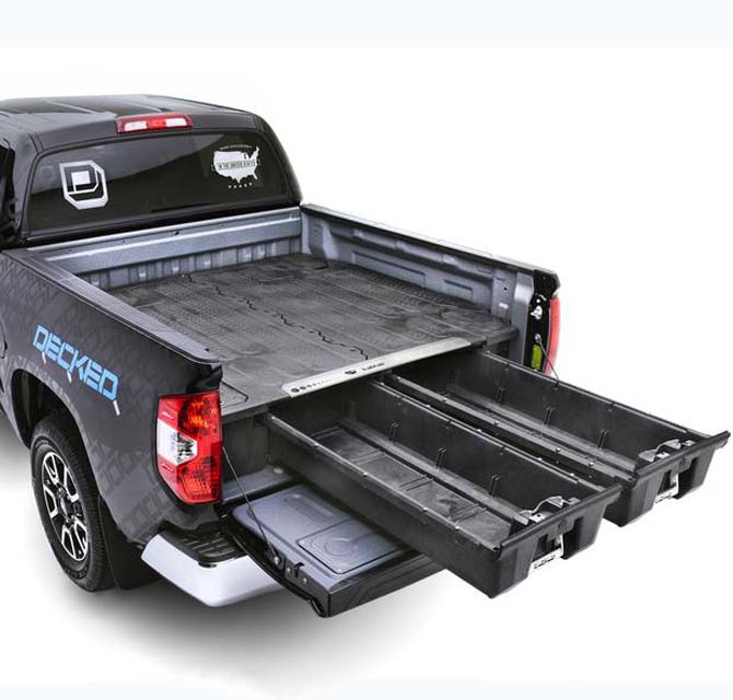 Decked Truck Bed Organizer 2015-2021 Ford F150 Aluminum 5 Ft 6 Inch - DF4