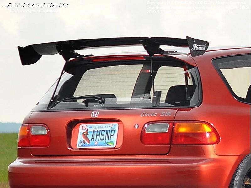 Js Racing Wet Carbon 3D GT Wing Honda Civic EG 1991-1995 - DGW1-H3-W