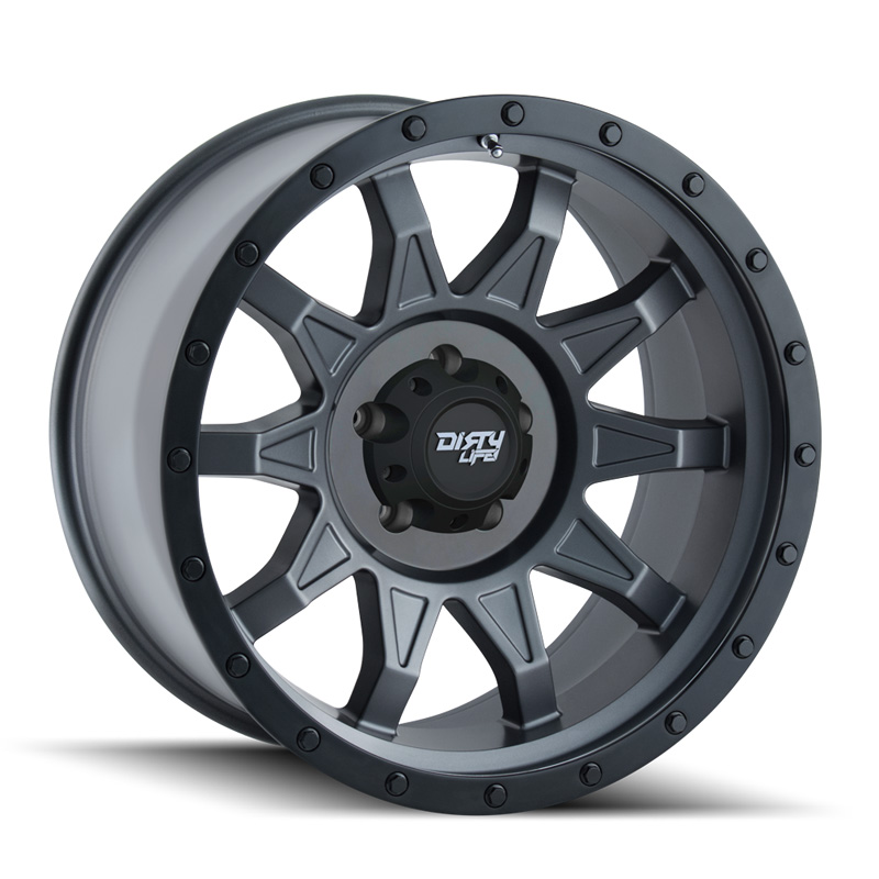 Dirty Life Dirty Roadkill Matte Gunmetal | Black Beadlock 20X10 6x139.7 -19mm 106mm Wheel - 9301-2183MGN