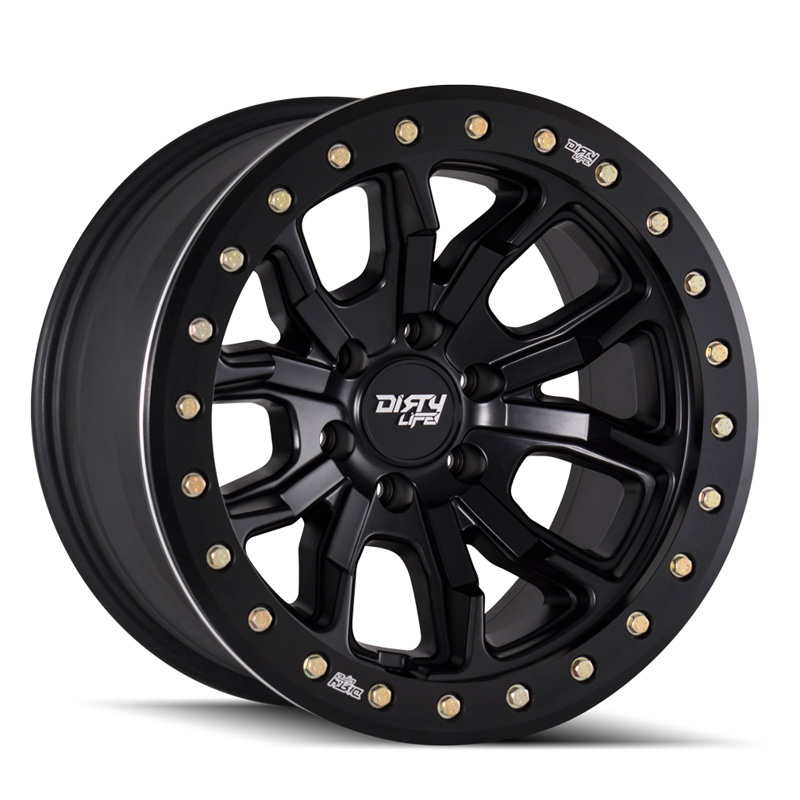 Dirty Life DT-1 9303 Matte Black 17X9 6x135 -12mm 87.1mm Wheel - 9303-7936MB12