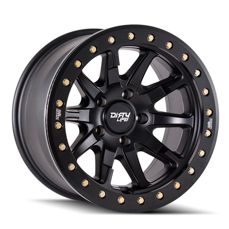 Dirty Life DT-2 9304 Matte Black 17X9 5x127 -12mm 78.1mm Wheel - 9304-7973MB12