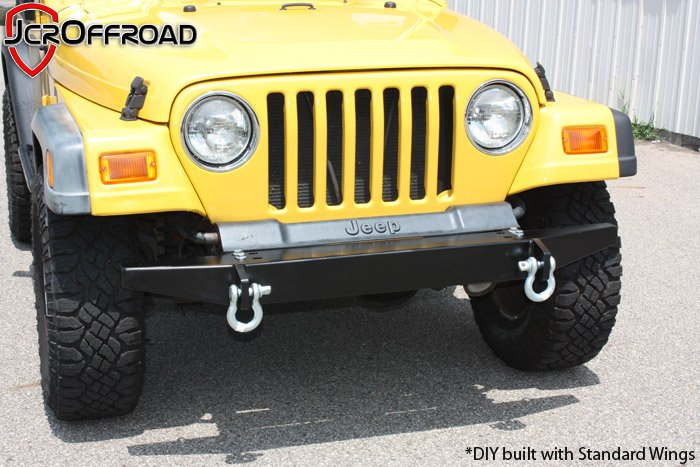 wrangler diy front bumper jeep wrangler tj lj yj cj7 76 06 jcr offroad Original Front Bumper Jeep Scrambler
