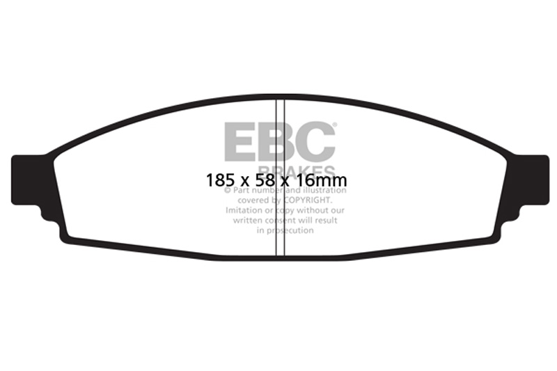 ebc brakes greenstuff 7000 & redstuff premium street front disc brake pad  set fmsi d953 lincoln aviator front 2003-2005 4 6l v8
