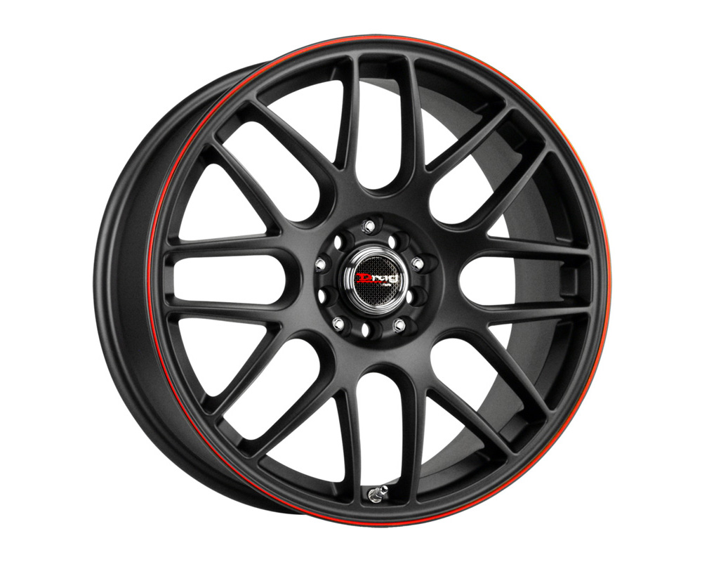 Drag DR-34 Flat Black w/Red Stripe Full Painted 18x8 5x100/114.3 35mm - DR34188053573BFR1