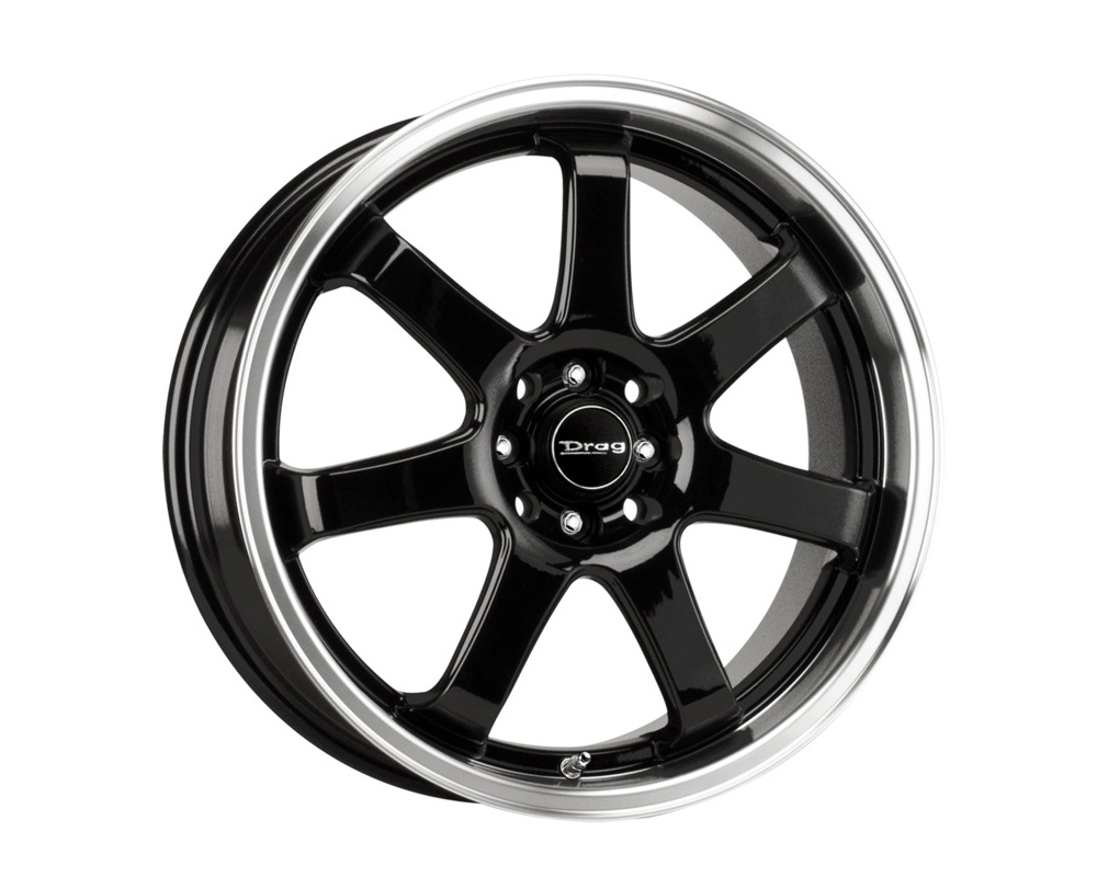 Drag DR-35 Gloss Black Machined Lip 18x7.5 5x100/114.3 45 - DR351875054573GB