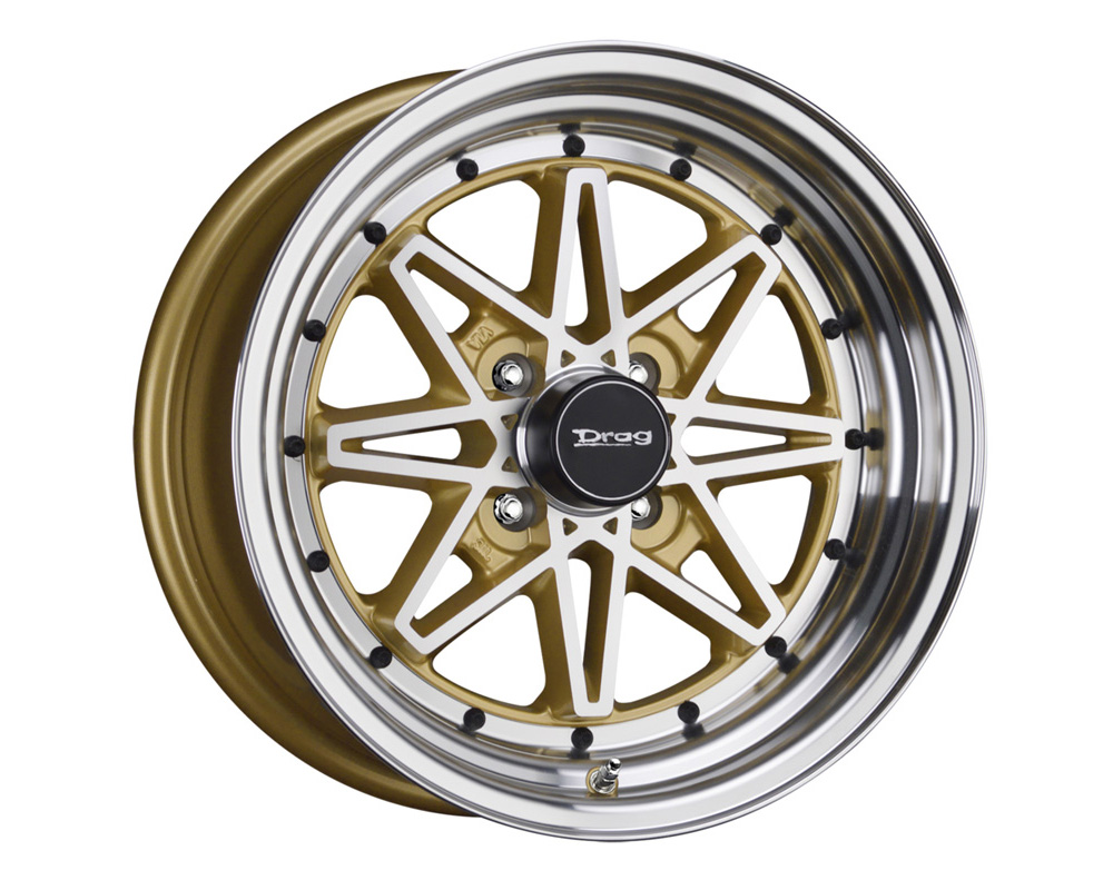 Drag DR-20 Gold Machined Face 15x7 4x100 10 - DR20157261073GDM