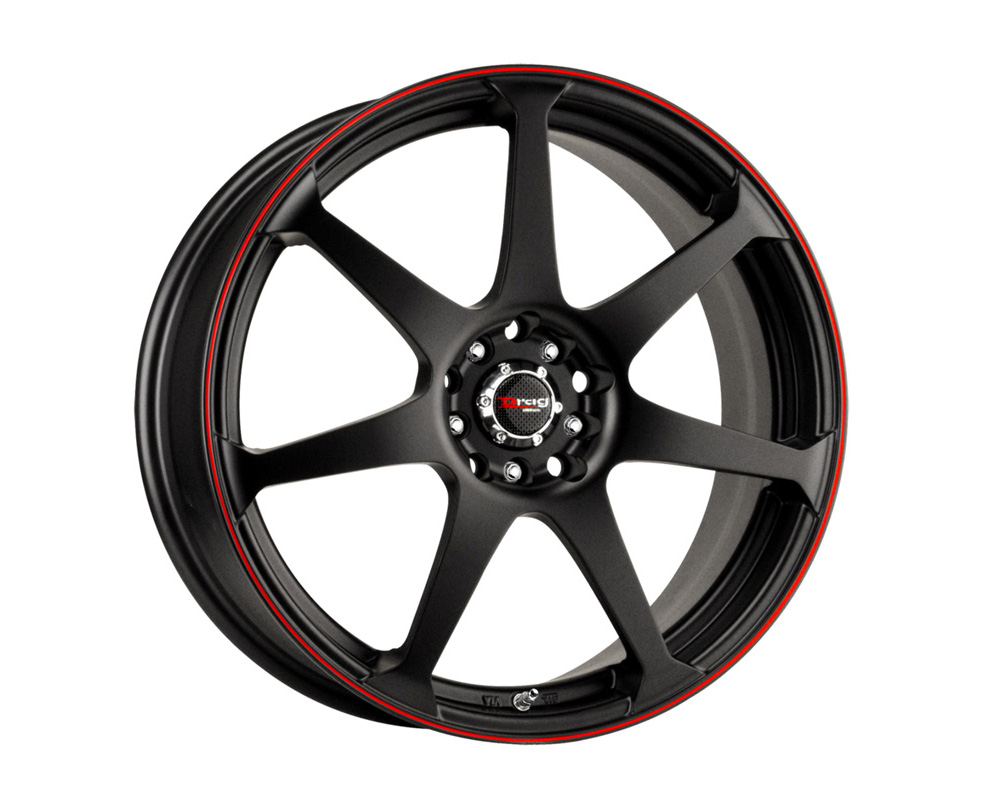 Drag DR-33 Flat Black w/Red Stripe Full Painted 16x7 5x100/114.3 40 - DR33167054073BFR1