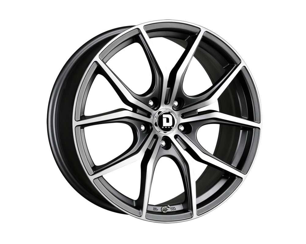 Drag DR-67 Charcoal Gray Machined Face 18x8 5x114.3 35 - DR67188063573GMFM
