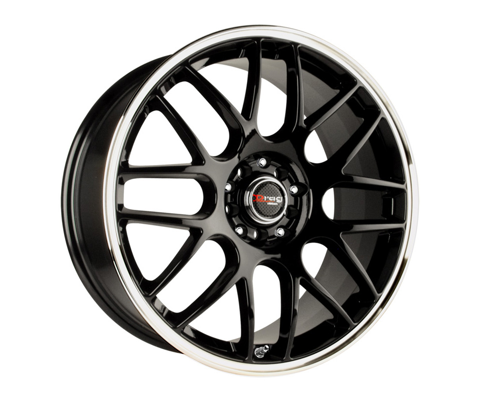 Drag DR-34 Gloss Black Machined Lip 17x7.5 5x105/110 42 - DR341775114273GB