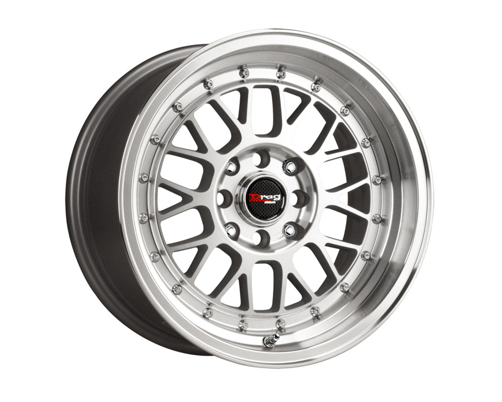 Drag DR-44 Silver Machined Face 15x7 4x100/114.3 40mm - DR44157044073SM