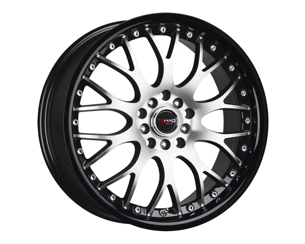 Drag DR-19 Gloss Black Lip Machined Face 17x7.5 5x100/114.3 45 - DR191775054573GBLM