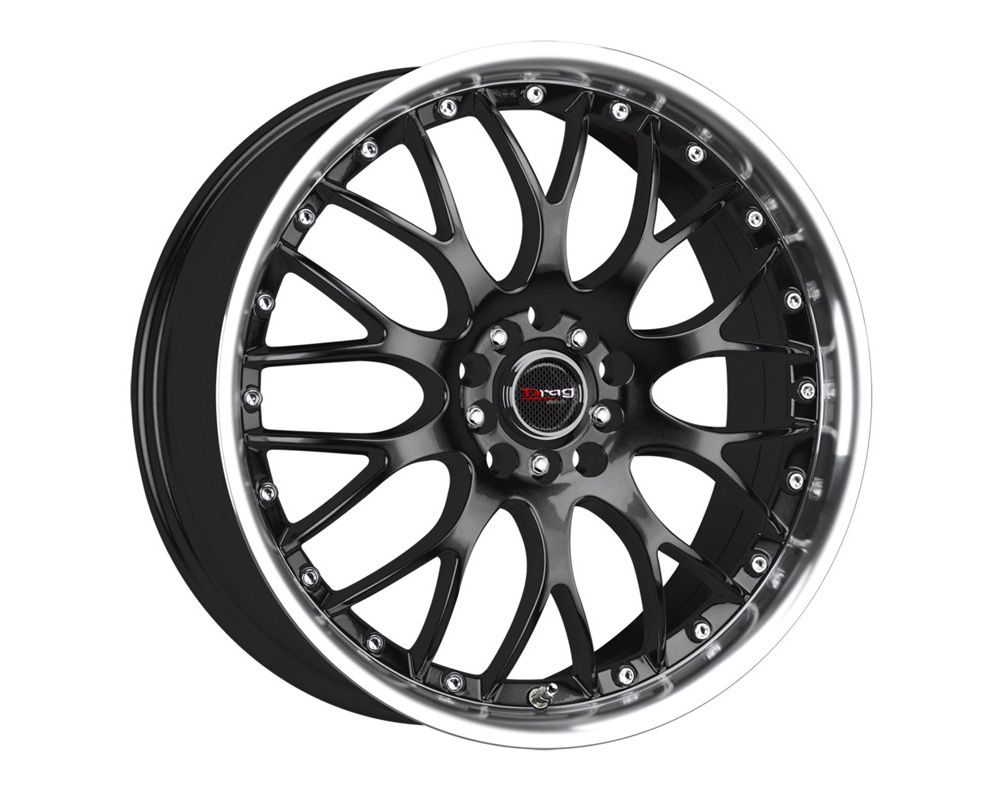 Drag DR-19 Gloss Black Machined Lip 17x7.5 5x100/114.3 45 - DR191775054573GB