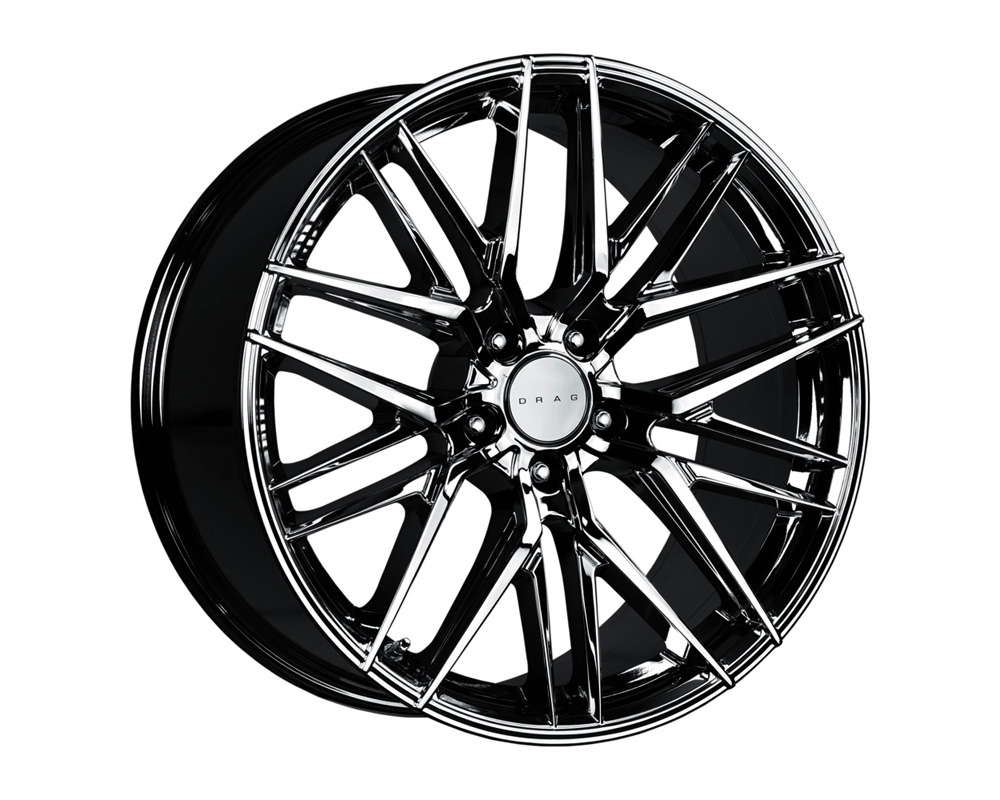 Drag DR-9 Gloss Black Machined Lip 17x7 4x100/114.3 40 - DR9177044073GB