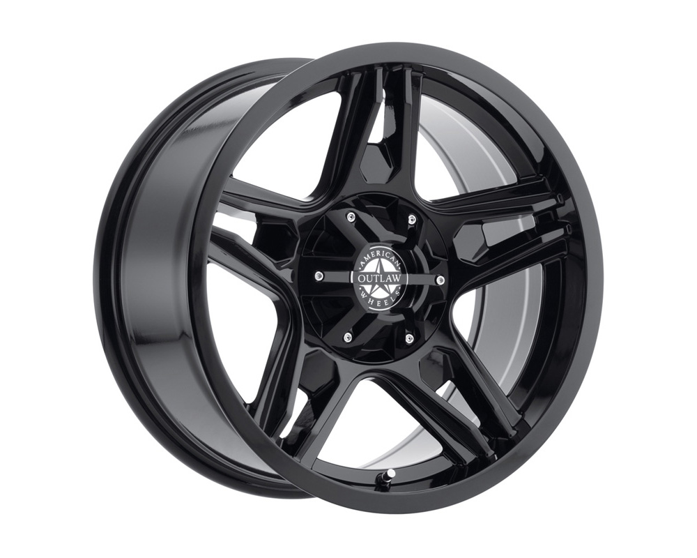 American Outlaw Wheels Lonestar Full Painted Gloss Black Wheel 20x9 5x139.7 10mm - DT-53100