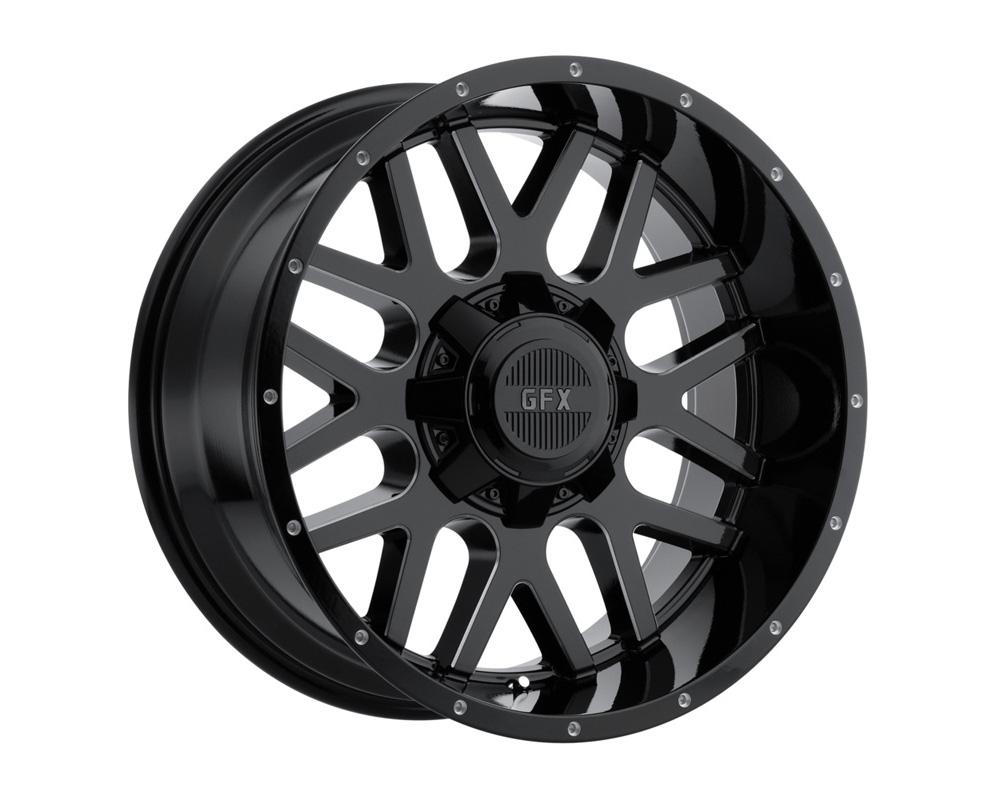G-FX Wheels TM4 Gloss Black Milled Wheel 17x9 6x135/139.7 12mm - DT-59082