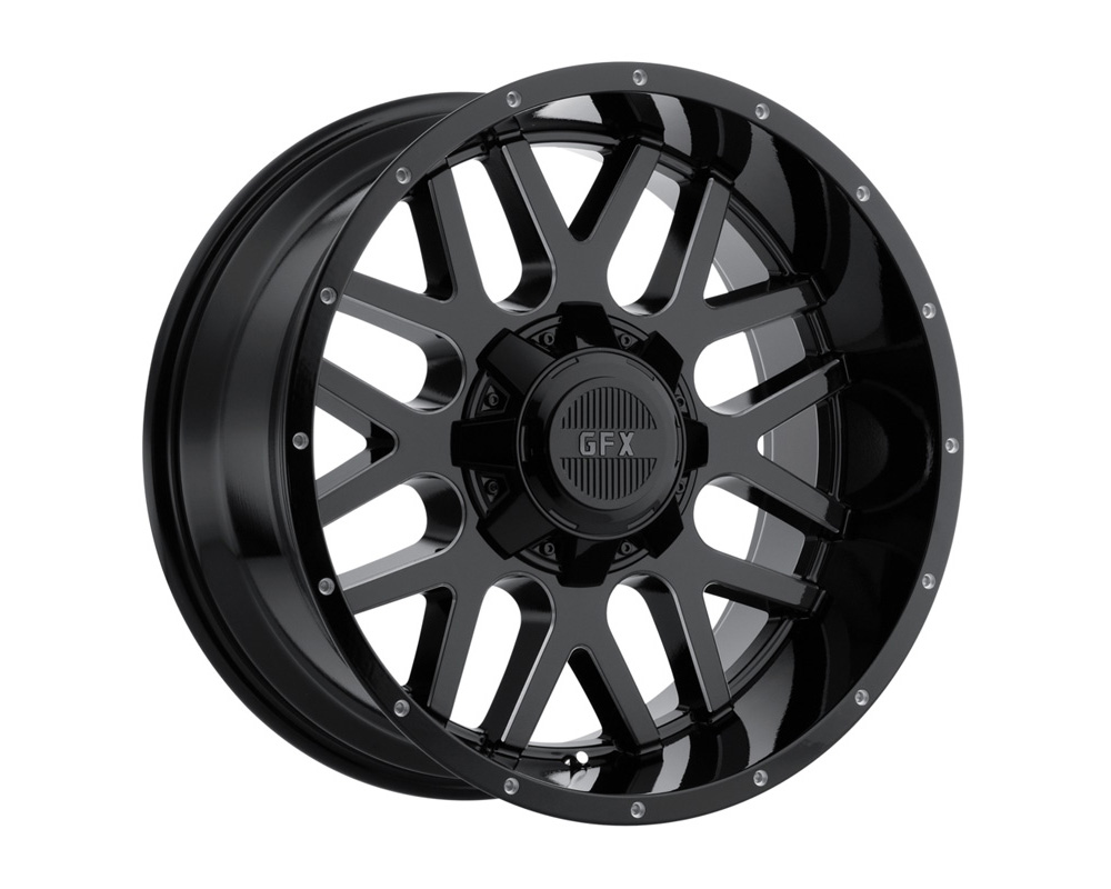 G-FX Wheels TM4 Gloss Black Milled Wheel 20x10 8x165.1 -24mm - DT-59094