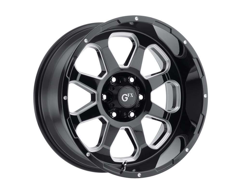 G-FX Wheels TR10 Gloss Black Milled Wheel 17x9 5x114.3 12mm - DT-59509