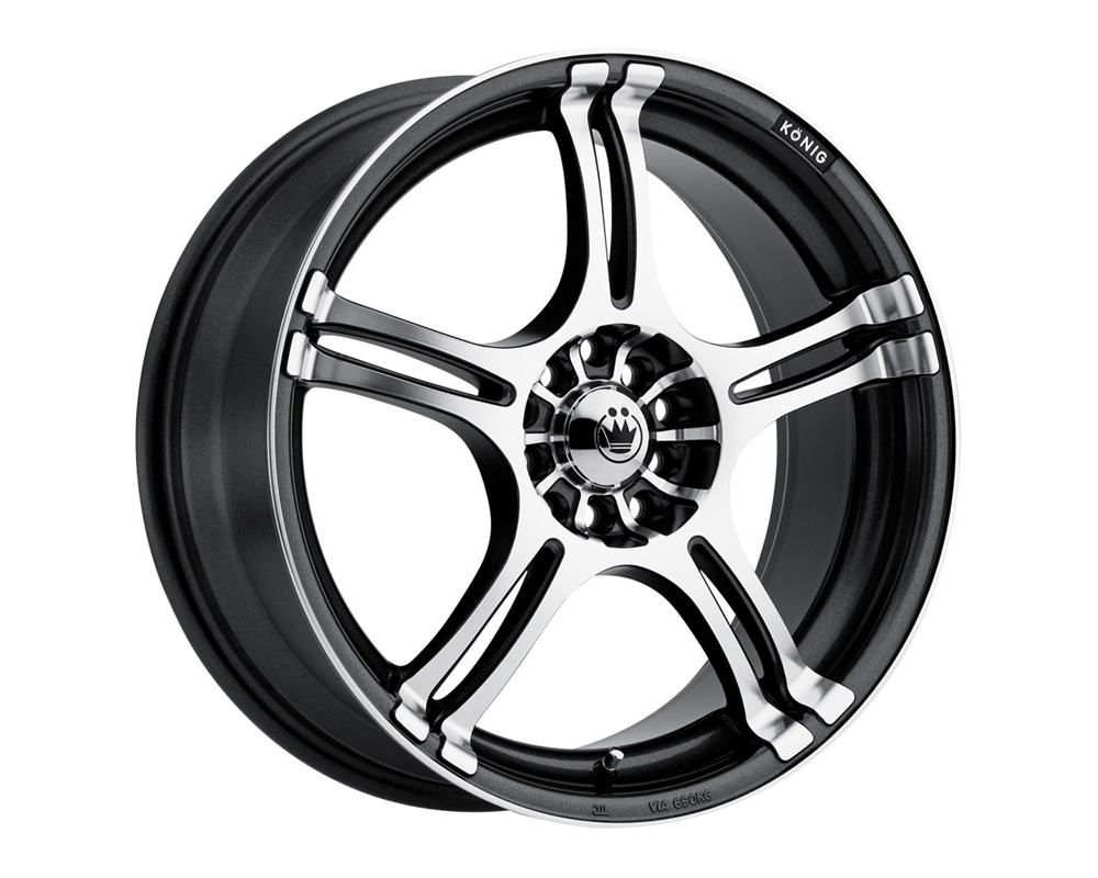 Konig Incident Graphite w/Machined Face Wheel 14x6 4x100/114.3 38 - 1N64D04386