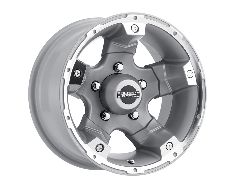 Black Rock Wheels Viper Silver Tungston Wheel 15x8 5x127 -19mm - 900S585037