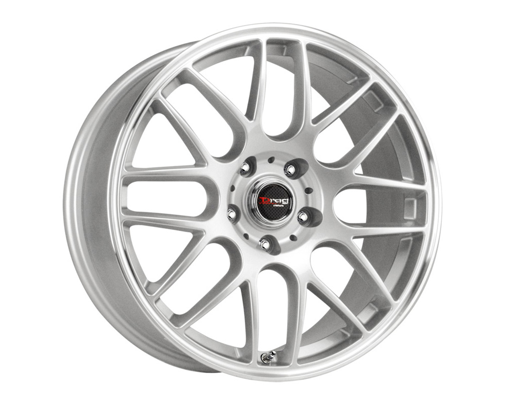 Drag DR-37 Silver Machined Lip 17x7.5 5x120 42mm - DR371775234272S
