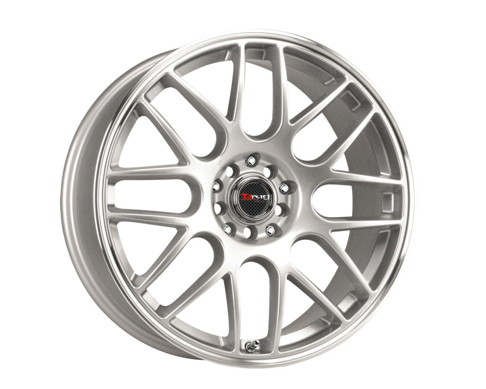 Drag DR-34 Silver Machined Lip 15x7 5x100/114.3 40mm - DR34157054073S