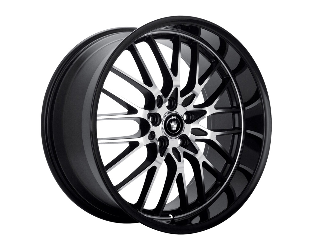 Konig Lightning Gloss Black w/Machined Lip Wheel 16x7 5x100/114.3 40 - LI67T04405