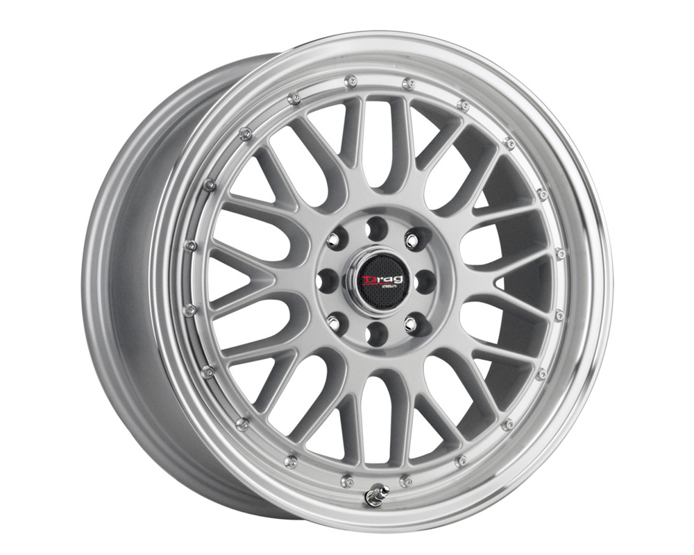 Drag DR-44 Silver Machined Lip 15x7 4x100/114.3 40mm - DR44157044073S