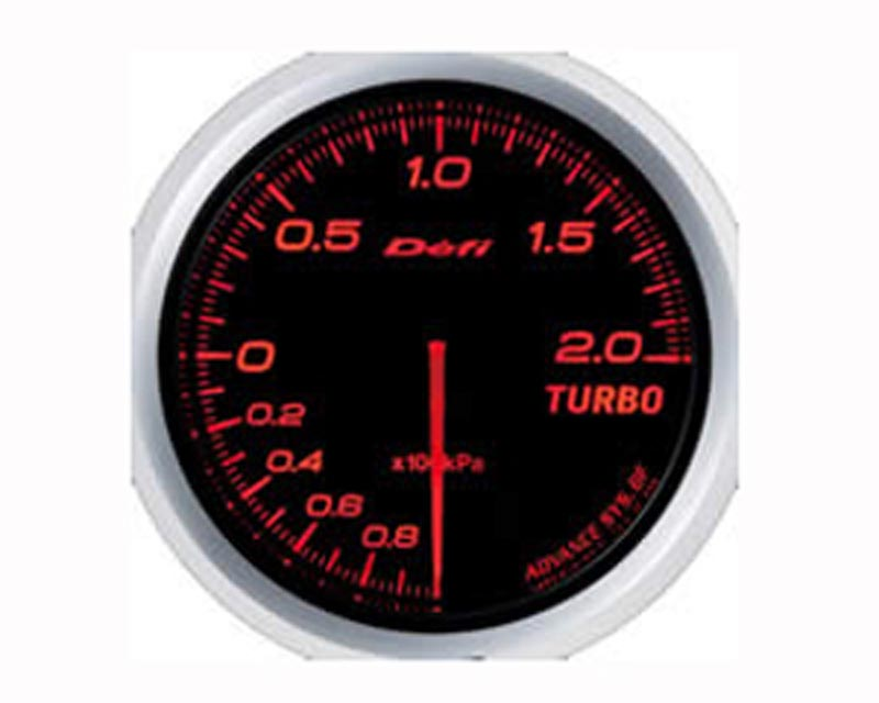 Defi Advance BF 60mm 30psi Boost Gauge - Red - DF09902