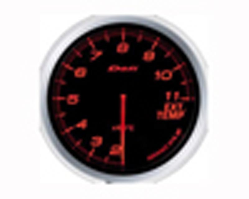 Image of Defi Advance BF 60mm Exhaust Temp Gauge - Red