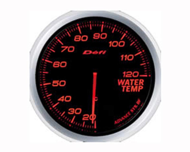 Defi Advance BF 60mm Water Temp Gauge - Red - DF10502