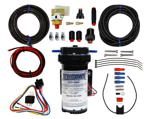 Image of DevilsOwn Stage 1 Diesel Universal 4-Cylinder Injection Kit 2-10psi